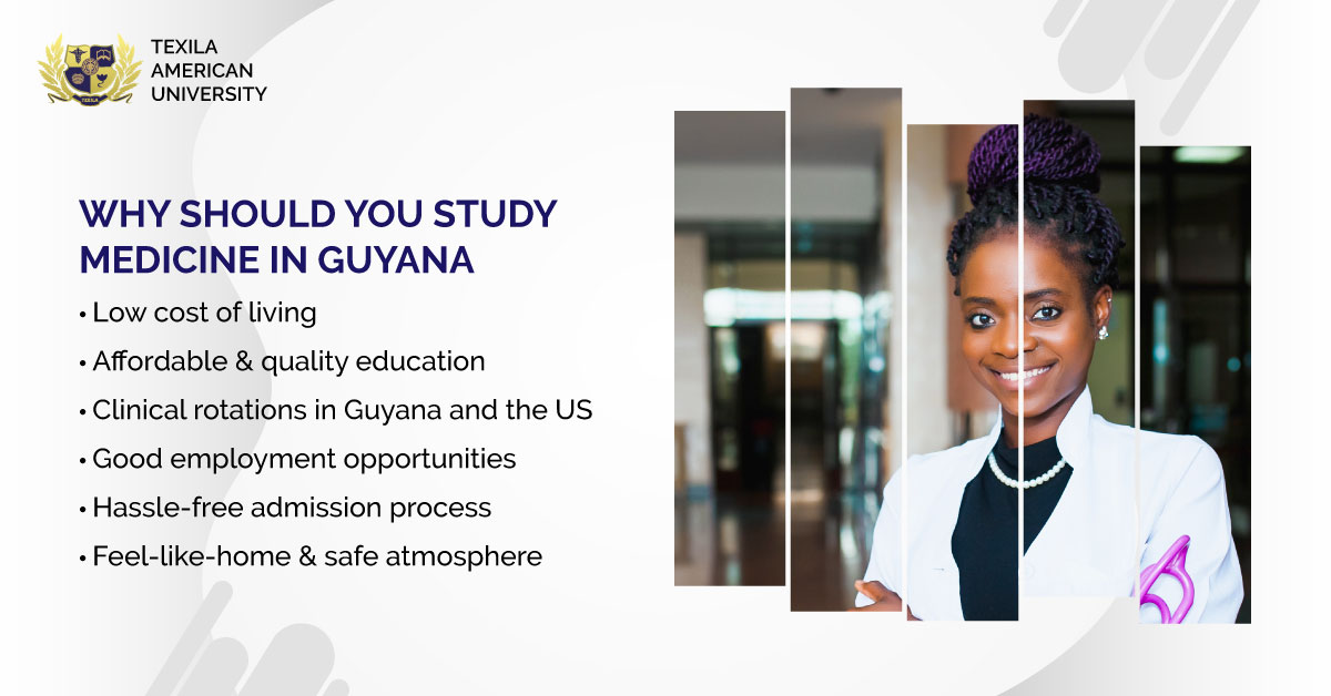 However, Many aspirants who wish to pursue MBBS are increasingly opting to study medicine in Guyana. Here are the various reasons that make Guyana an attractive destination to explore medicine.  #StudyMedicine #MedicalEducation #Guyana #Caribbean #TexilaAmericanUniversity https://t.co/7pBoRmPPkE