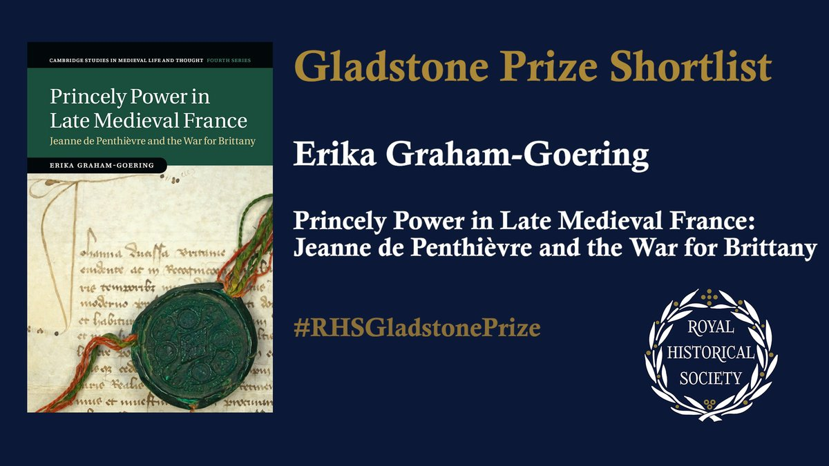 Hear from more of our #RHSGladstonePrize shortlisted authors:  Dr Erika Graham-Goering ( @ugent), author of 'Princely Power in Late #Medieval France' (@CambridgeUP) https://t.co/N8Pu6Cy5KT  What's the book about? How did it come to be written?   #twitterstorians @jeanneologist https://t.co/yQbL9yEz5Q