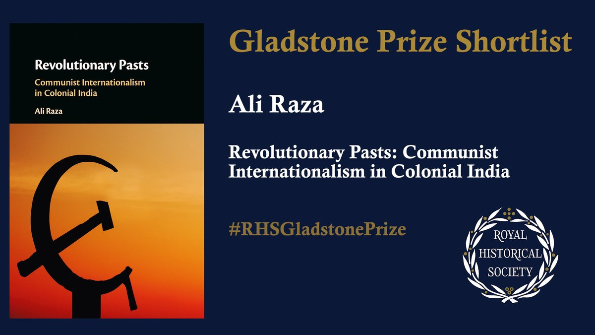 Hear from more of our #RHSGladstonePrize shortlisted authors:  Dr Ali Raza (@LifeAtLUMS), author of 'Revolutionary Pasts' (@CambridgeUP) https://t.co/umzJmrkNIl  What's the book about? How did it come to be written?   #twitterstorians https://t.co/2e7C0Odj9H