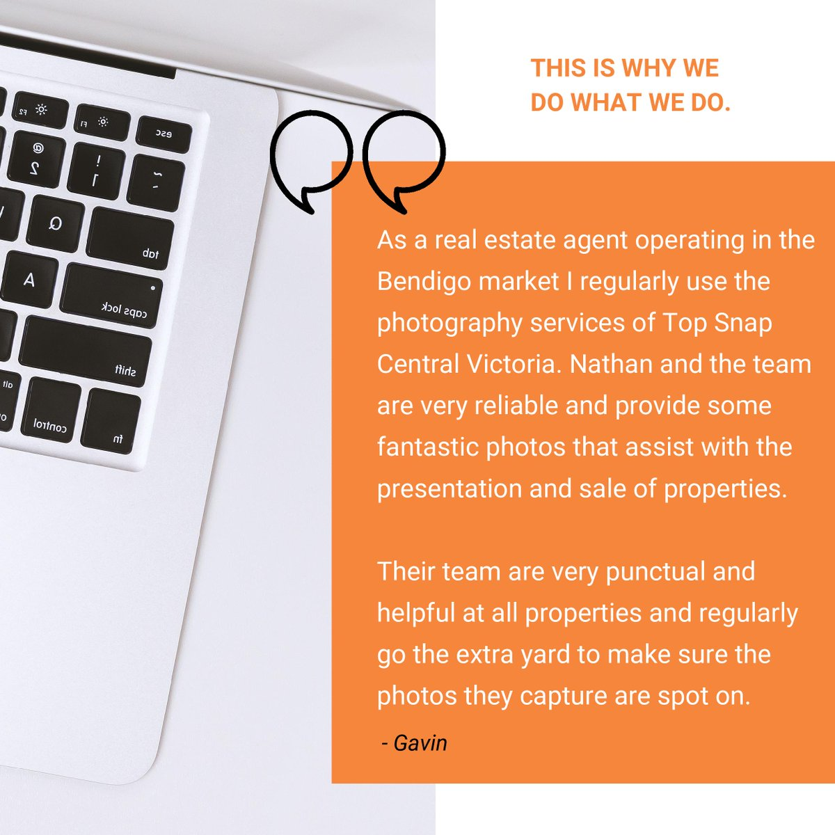 What our customers are saying about Top Snap Central Victoria! 👍🏼 . #topsnap #realestate #photography #happycustomers #testimonial #feedback #reviews #whatourcustomerssay #topsnaptestimonial #whywedowhatwedo https://t.co/YyS2wyhfgp