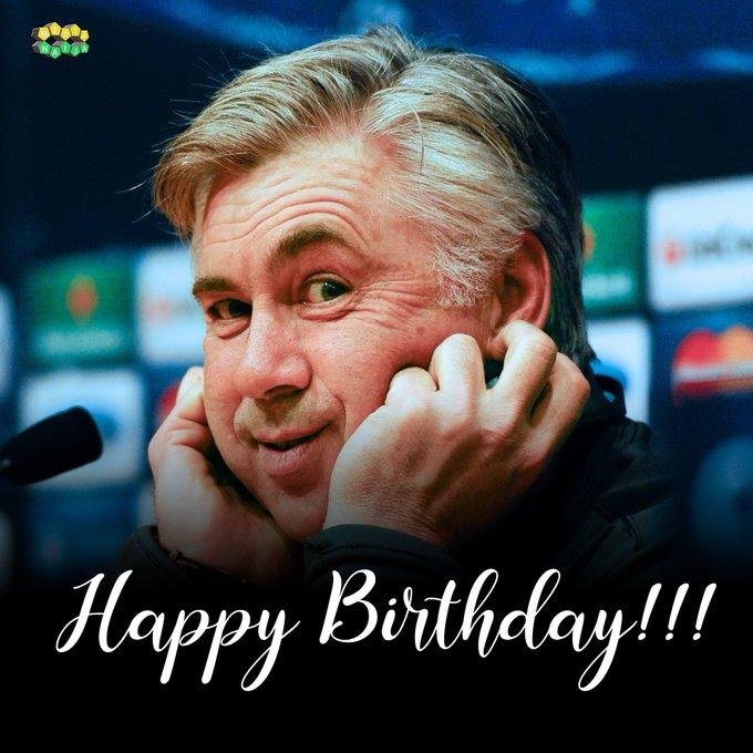 Happy Birthday to Carlo Ancelotti He turns 62 today.