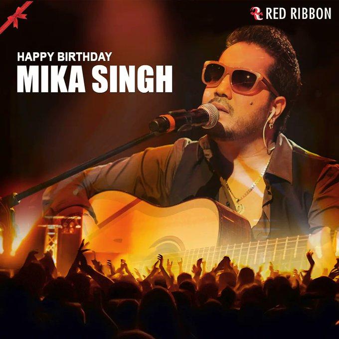 Happy 44th Birthday to Indian Rapper, Singer & Performer, Mr Mika Singh Ji.