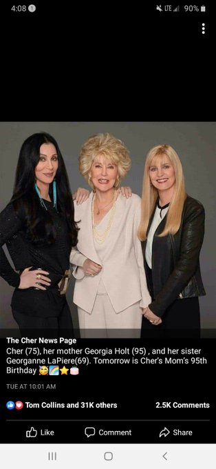 Happy birthday to you Cher\s mother