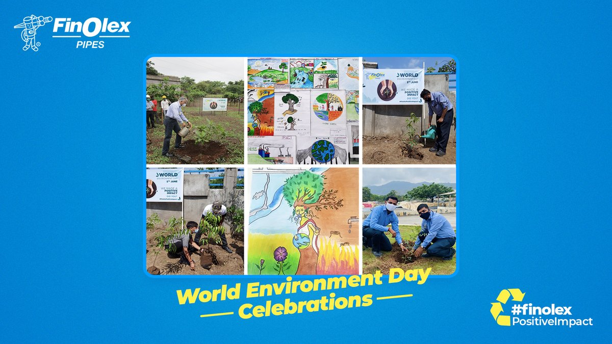 Finolex Industries celebrated the #WorldEnvironmentDay by conducting various activities. Employees participated in a host of activities under 'Ecosystem Restoration' & 'Digital Clean up' initiatives from ways to reduce their carbon footprint & digital wastage to sapling planting. https://t.co/wFW7Sv8ZSF
