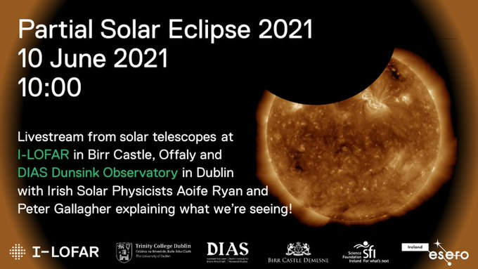 test Twitter Media - Busy Day today in @DIASDunsink  - First up we have the partial Solar eclipse happening now! Check out the live watch party. Link in bio or available here too: https://t.co/x66JtQmt9T (1/3) https://t.co/kb2vBmH6dy
