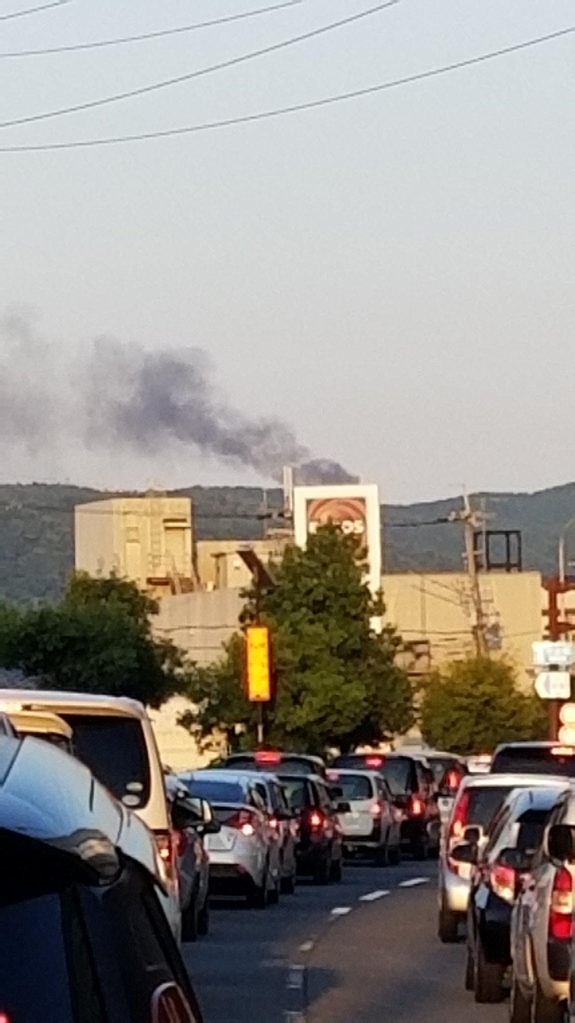 画像,山の向こう、火事では⁉️ https://t.co/MHL8jeebJW。
