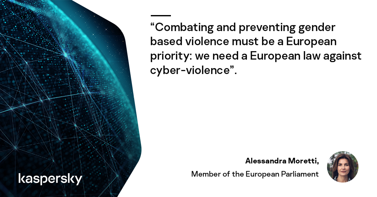 Next Tuesday at 11:00 CEST during the #EUCyberPolicyForum, MEP @ale_moretti will share why the legislative framework must be improved to better tackle online harassment, stalkerware and other forms of gender-based violence  Save the date 🗓️ and register➡️ https://kas.pr/58uo
