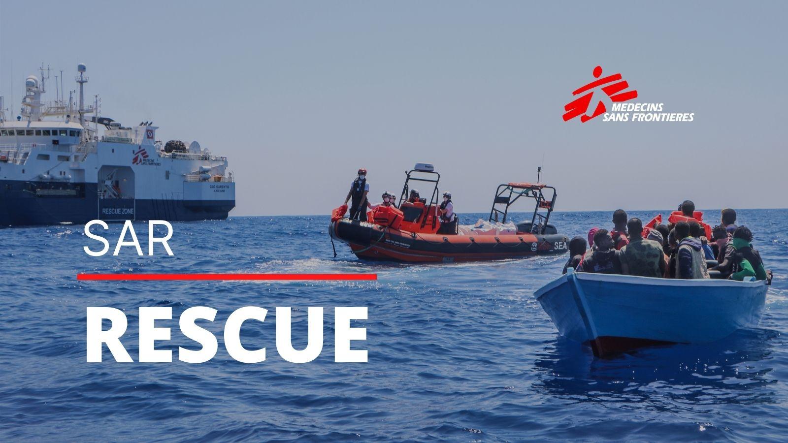 Das neue Rettungsschiff Geo Barents rettete am Donnerstag 26 Menschen aus Seenot.