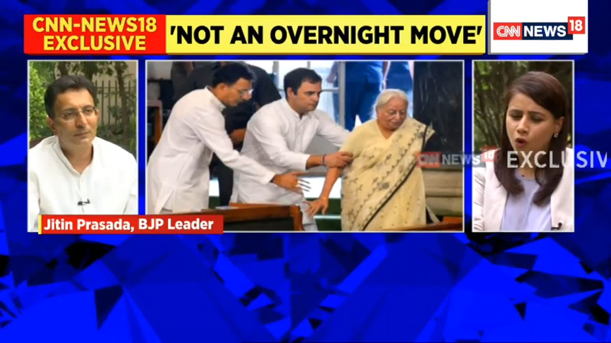 #EXCLUSIVE   Electoral defeats are one of the reasons for me to leave. Everyone knows who the party head is, but are they using the available talents properly?: Jitin Prasada (@JitinPrasada),  BJP Leader.   Join the broadcast with @maryashakil. https://t.co/ycM10rAxER