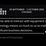 Image for the Tweet beginning: #inpersonevents #labelcongress #labelindustry #labels #packaging