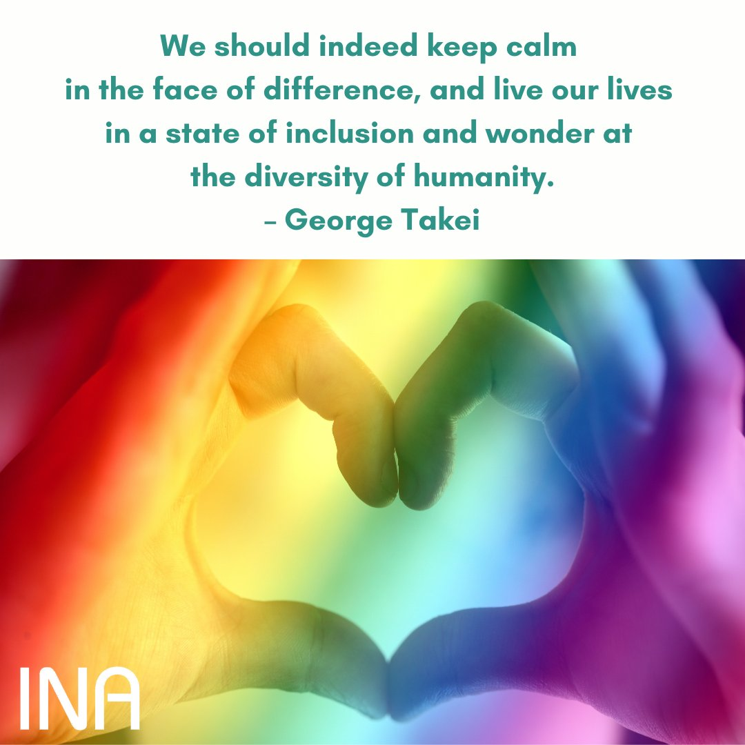We should indeed keep calm in the face of difference, and live our lives in a state of inclusion and wonder at the diversity of humanity. – George Takei https://t.co/AHpj8gn55U