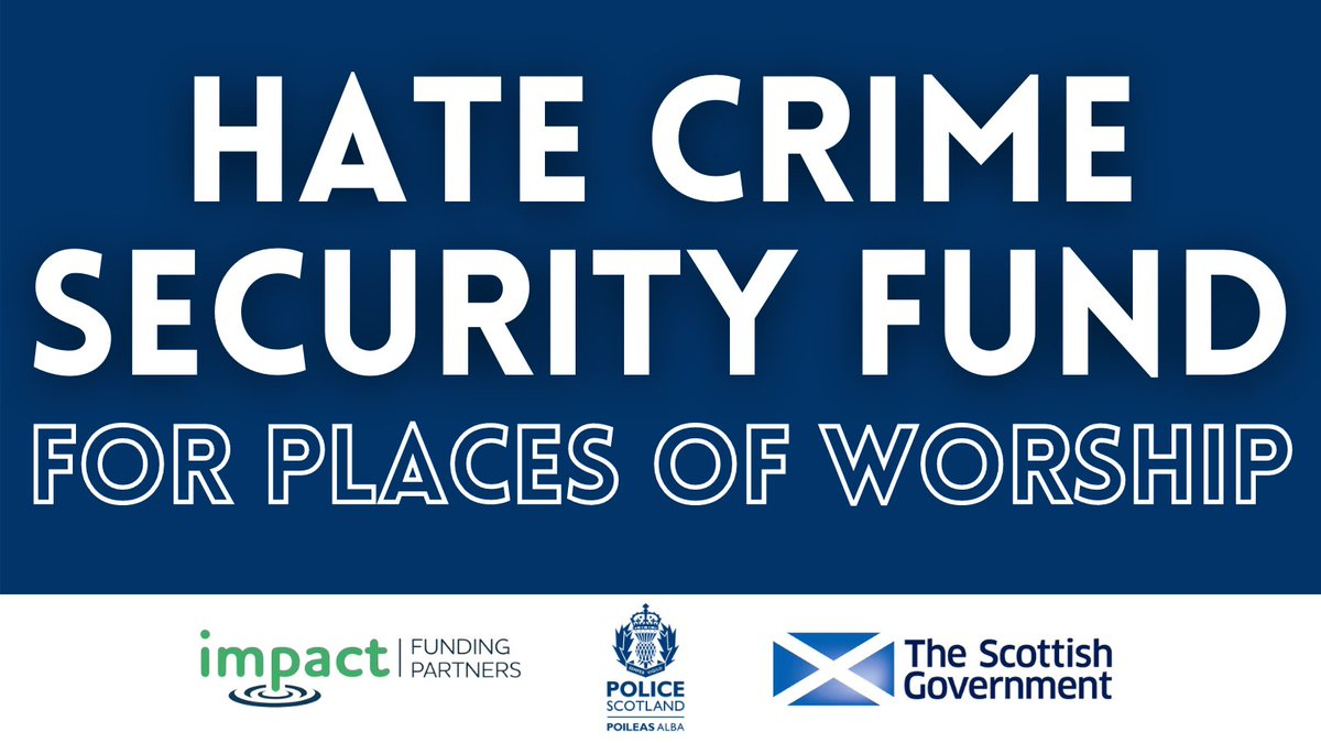 Are you a place of worship in Scotland who has suffered from hate crime? You can apply to the @ScotGovFairer Hate Crime Security Fund #HCsecurity  Developed in partnership with @PoliceScotland, you could be eligible for security measures.  Find out more➡️https://t.co/w1kz4P8GQf https://t.co/D4VlQG8cq9