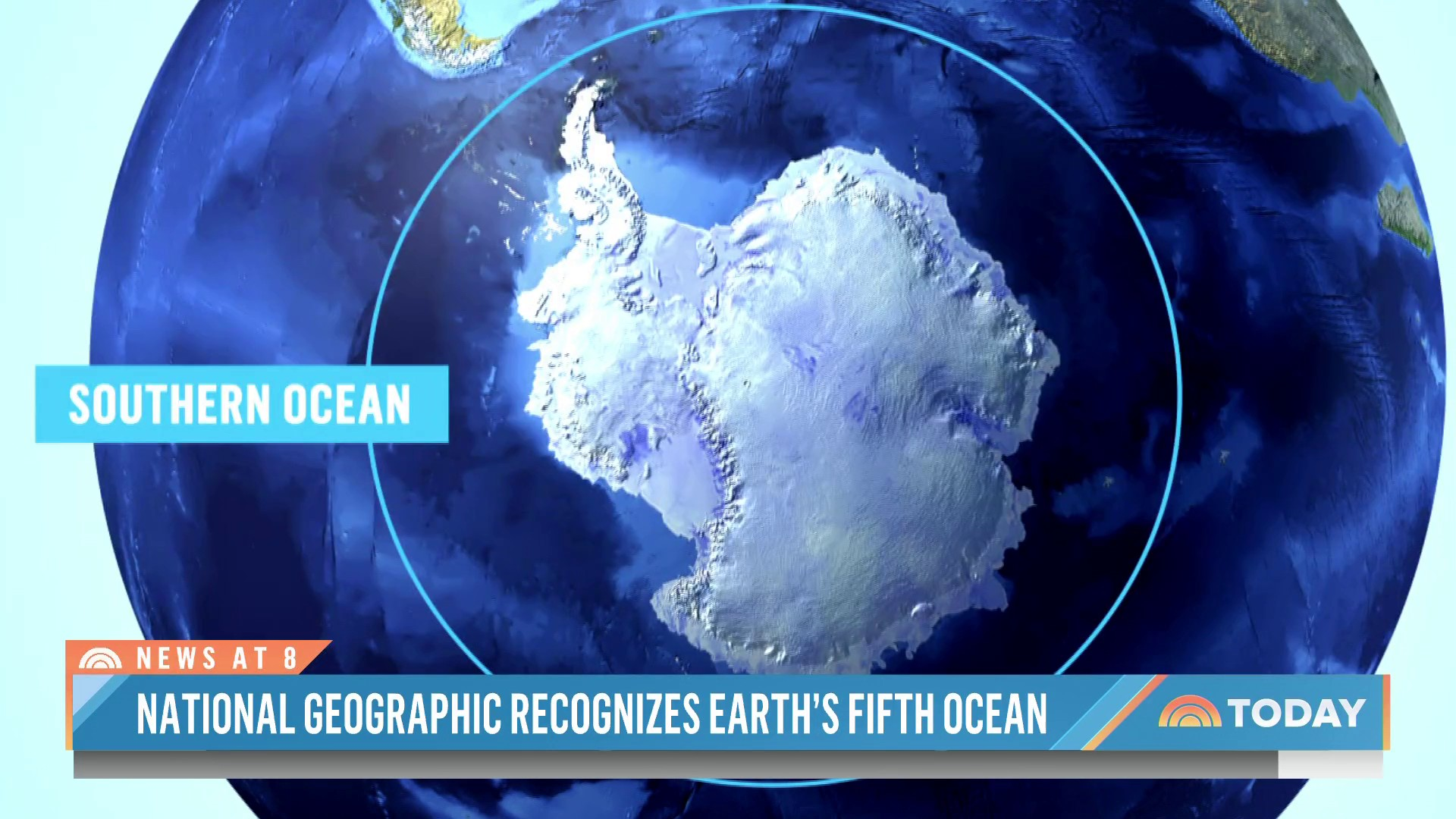 A fifth ocean? National Geographic adds Southern Ocean to world map Photo