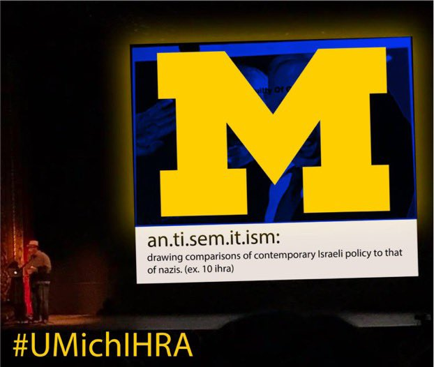 The University of Michigan must adopt the International Holocaust Remembrance Alliance definition of antisemitism. Jewish students and alumni should accept nothing less. Read this thread to understand why. #UMichIHRA 👇 https://t.co/BRX3L47Dao https://t.co/VBkkKFVSra