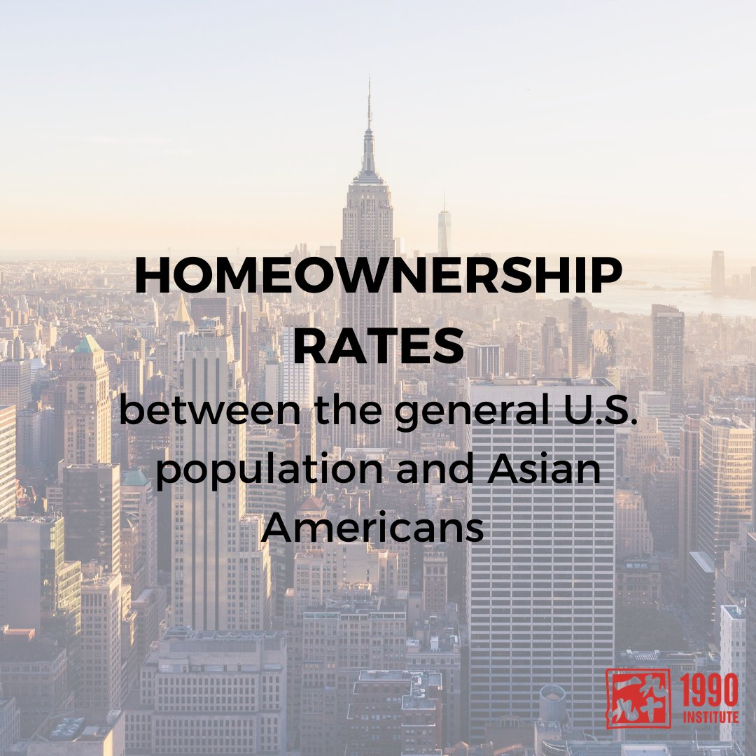 """""""Asians have a lower homeownership rate than the U.S. public overall (59% vs. 64%). Nevertheless, the homeownership rate is on the rise among Asian Americans, increasing from 53% in 2000 to 59% in 2019."""" – Pew Research Center https://t.co/Ddd90B2QP3"""