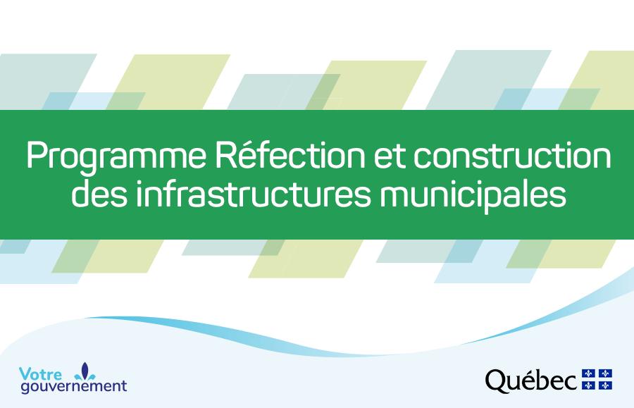 Programme Réfection et construction des infrastructures municipales