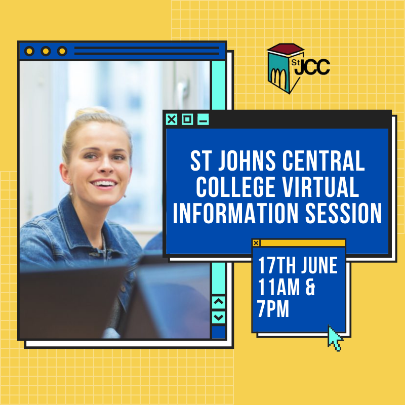 Join us for a Virtual Information Session with @stjohnscentral1 where all your questions will be answered about the #CloudComputing Lvl 5 & 6 #SoftwareDevelopment Lvl 5 Network & #CyberSecurity Lvl 5 & 6  17th June 11am & 7pm Register here https://t.co/WodGJcuXBM