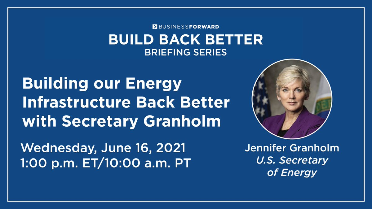 When @POTUS thinks about climate change, he thinks about #cleanenergy jobs. Can't wait to talk w/ @MayorGallego & @BusinessForward leaders about all the ways #AmericanJobsPlan will build our energy infrastructure back better!