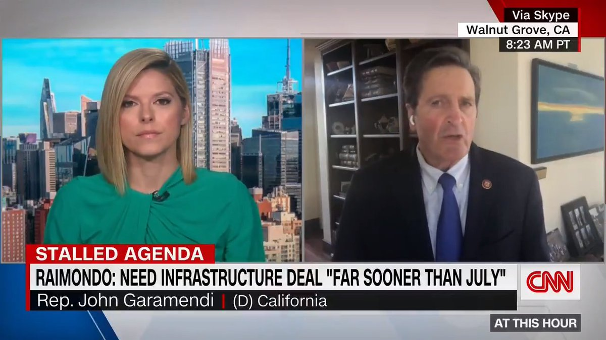 """Democratic Rep. John Garamendi on infrastructure negotiations: """"Republicans are going to have to make a choice. They're going to have to seriously negotiate, which they are not now doing … or face a reconciliation process."""" https://t.co/A1NDsbUsN5 https://t.co/Ic2vOQp6Dy"""