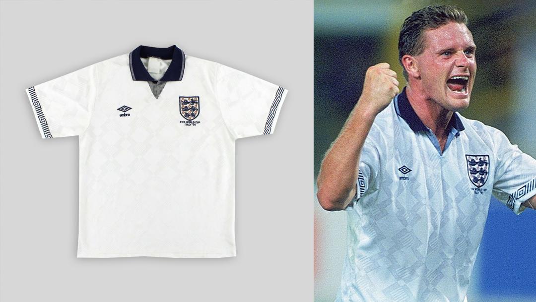 England World Cup 1990 home kit