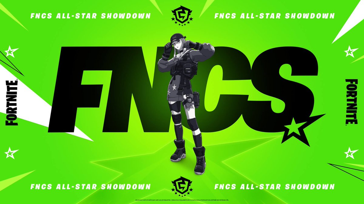 FNCS All-Star Showdown Details:  - Prize Pool: $3,000,000 - Date: June 11-26 (Championship on June 26)  Solo All-Star Play In - Date: June 18-20 (Only Champion League Players) - Ten spot for each region for the All-Star Showdown https://t.co/R7b4YAzm3S