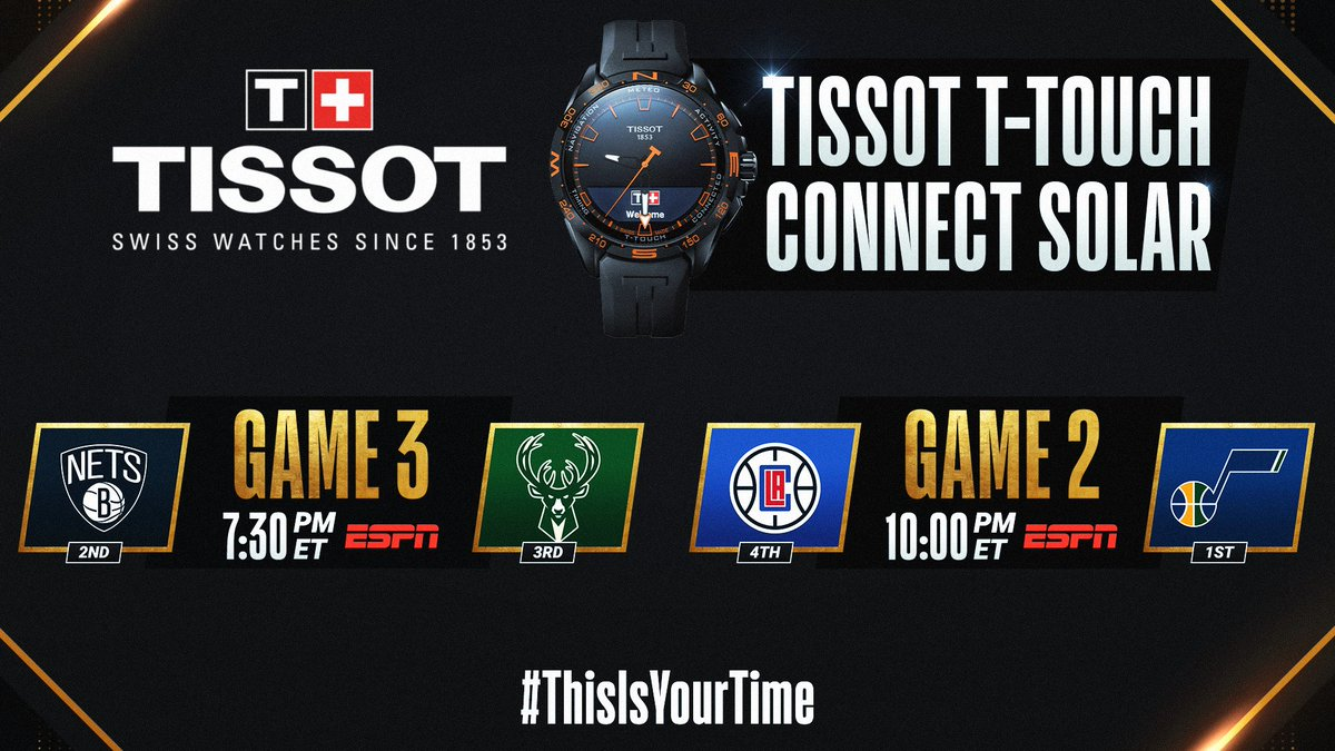 The #NBAPlayoffs continue tonight with an ESPN doubleheader! #ThisIsYourTime  🛒 Shop @TISSOT Here: https://t.co/IBgyQ4VIdS https://t.co/wY1AYZkBLd