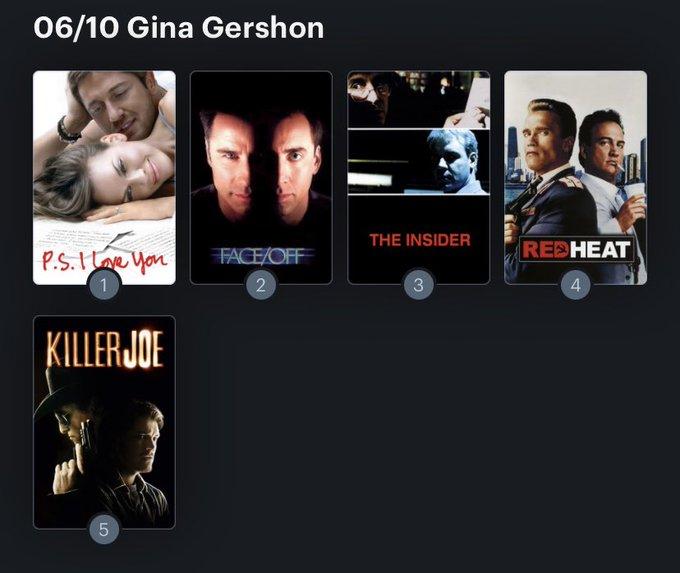 Hoy cumple años la actriz Gina Gershon (59) Happy birthday ! Aquí mi Ranking: