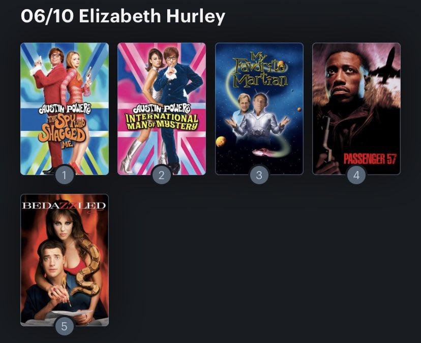 Hoy cumple años la actriz Elizabeth Hurley (56) Happy birthday ! Aquí mi Ranking: