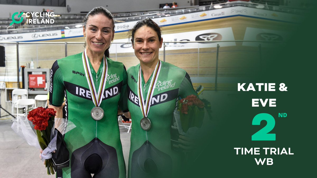 Incredible performance by @KatieGDunlevy and @evemccrystal 👏🏻   🥈in the time trial at the @UCI_paracycling Road World Championships 🙌🏻   #worldchampionships #paracycling #Cascais2021 https://t.co/XdiTIRZYHk