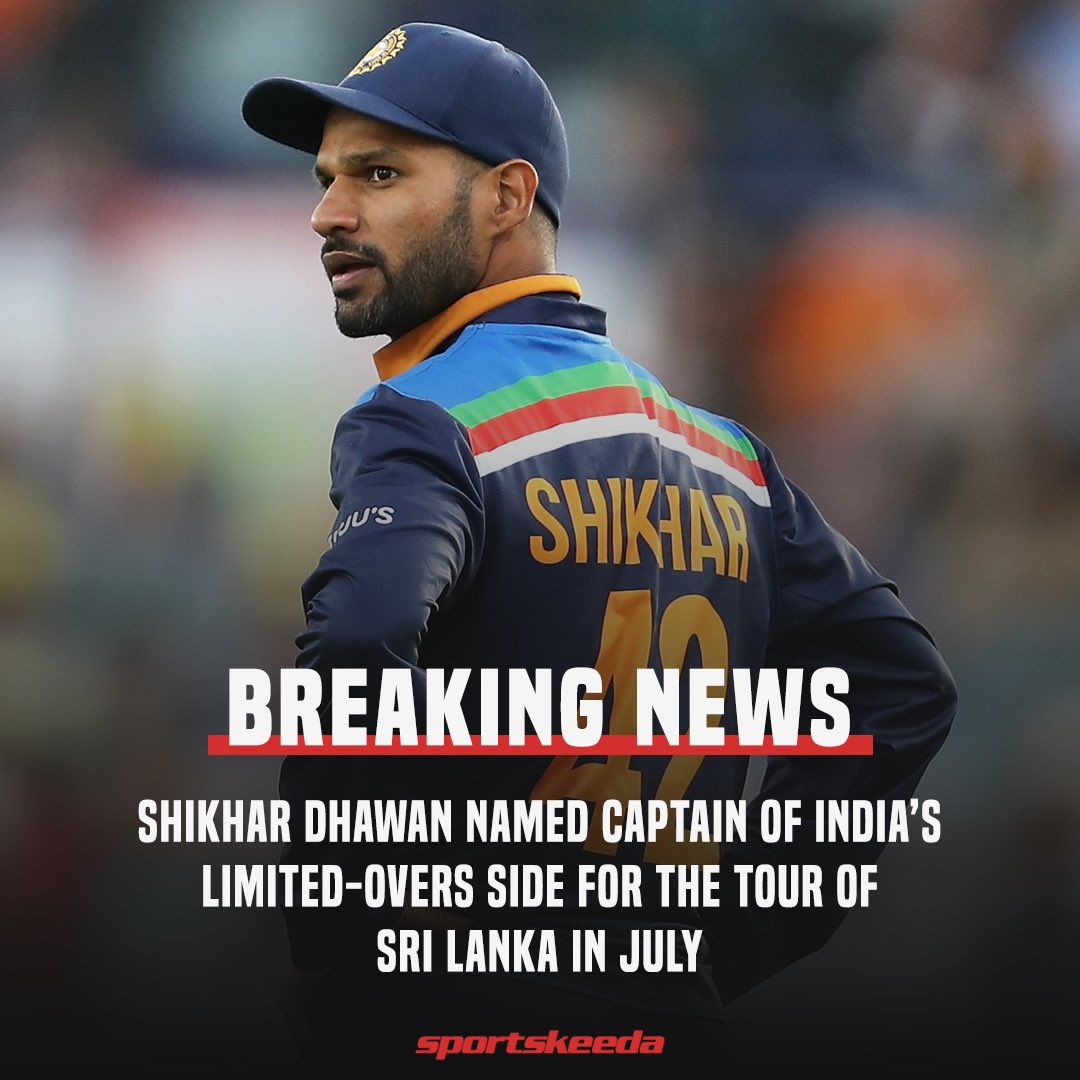 Shikhar Dhawan to lead India on Sri Lanka tour, Bhuvneshwar to be his deputy Photo