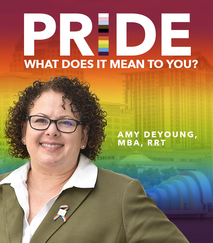 In honor of #PrideMonth, we asked some of our LGBTQIA+ team members what it means to them. Read on to learn what Amy DeYoung, chief operating officer, Orlando Health–Health Central Hospital, had to share. https://t.co/noQhoZnQsy