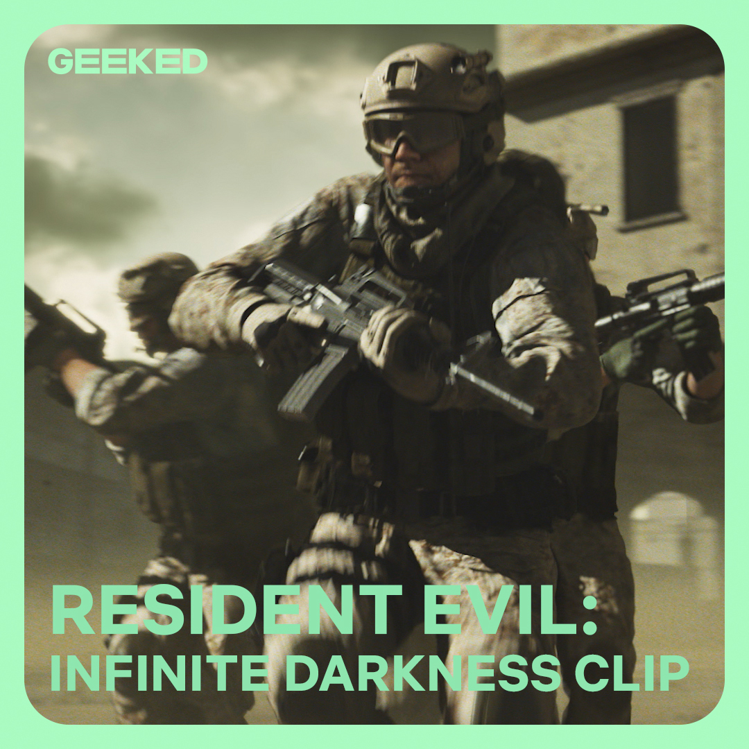 watch the exclusive opening scene of RESIDENT EVIL: Infinite Darkness, premiering July 8th on Netflix #GeekedWeek https://t.co/R5uDAqnV3J