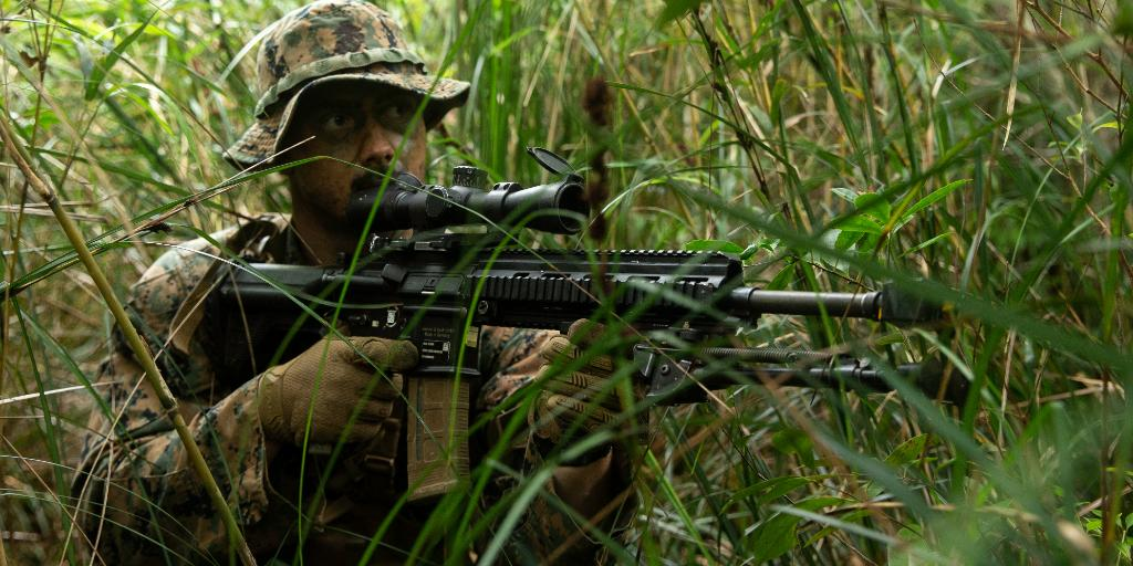 """""""We are creating the most strenuous, difficult, and demanding training environments to grow our warfighting prowess."""" - Col. Matthew Tracy, commanding officer, 4th Marines, @3d_Marine_Div. https://t.co/ccWhClCKg6"""
