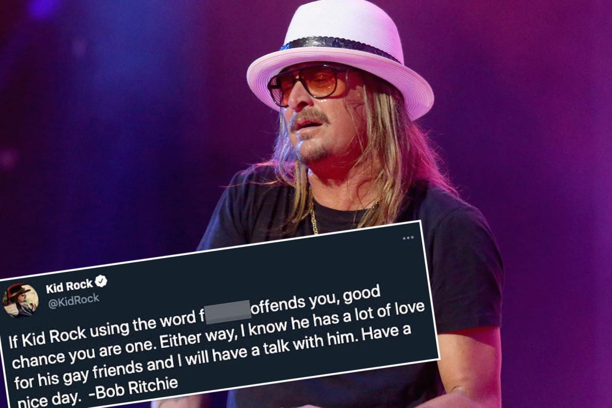 Kid Rock repeats gay slur in response to homophobia backlash Photo
