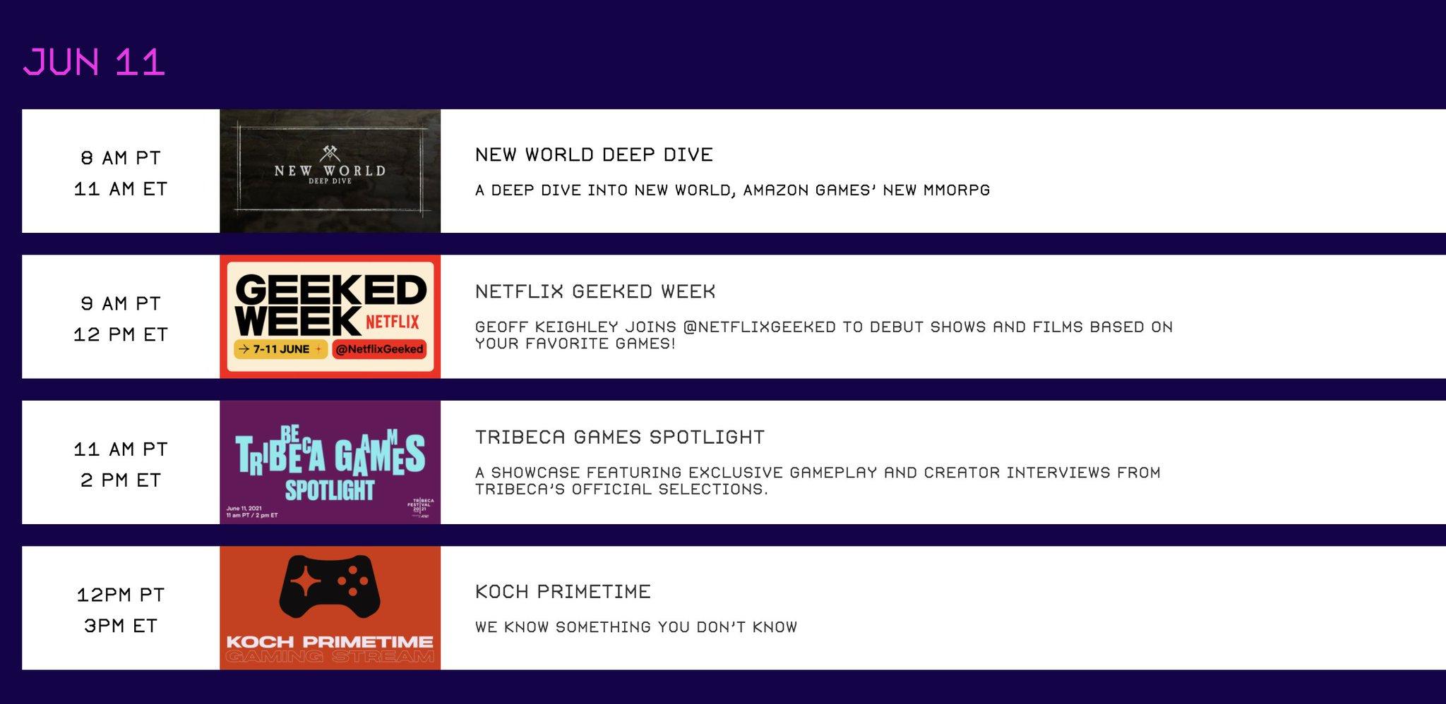 Netflix Geeked Week Livestream Photo