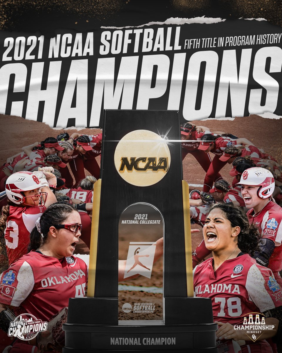 🏆 𝐍𝐀𝐓𝐈𝐎𝐍𝐀𝐋 𝐂𝐇𝐀𝐌𝐏𝐈𝐎𝐍𝐒 🏆  For the fifth time in program history, the Oklahoma Sooners are national champs!  #ChampionshipMindset https://t.co/dmgALSOKXk