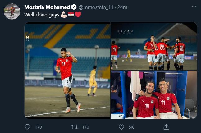 مصطفى محمد عبر تويتر