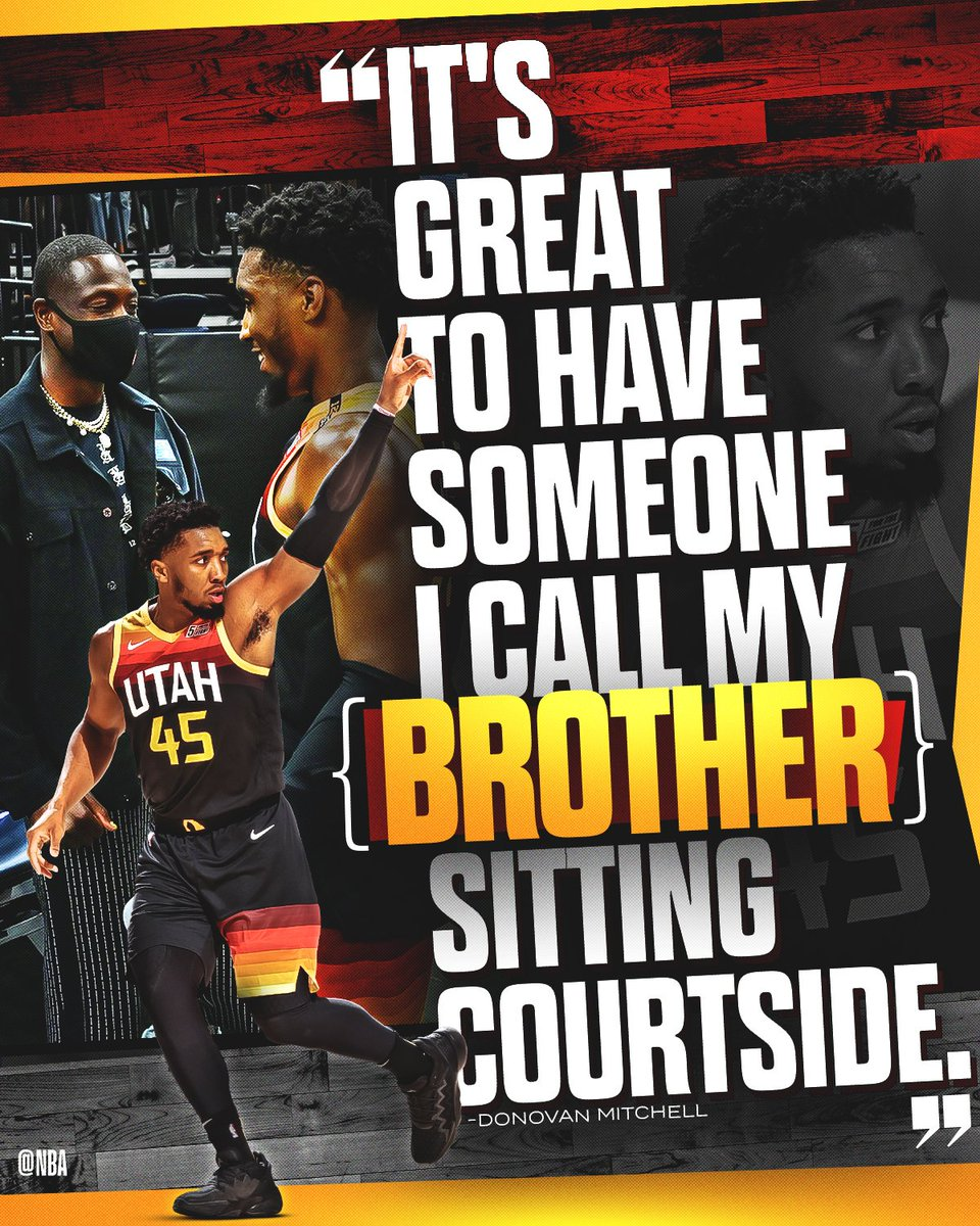 Passing it on to the next generation! #ThatsGame   Donovan Mitchell and the @utahjazz look to go up 2-0 vs. LAC in Game 2 tonight at 10pm/et on ESPN. #NBAPlayoffs https://t.co/0zc8FbYPvT