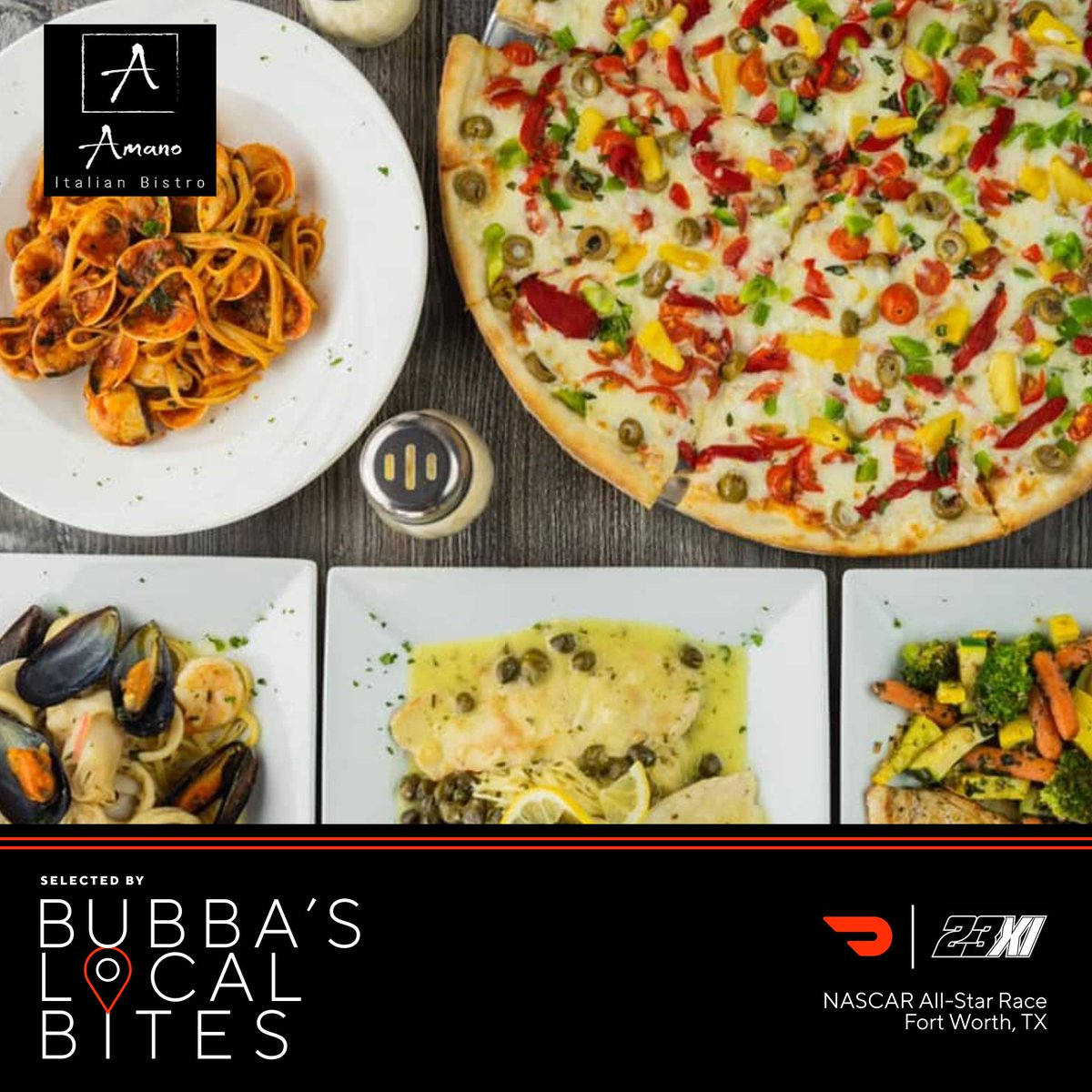 Here's the All-Star Race/Texas edition of #Bubbaslocalbites to keep you fueled up!  - Amano Italian Bistro: https://t.co/y4uOcSZ7Z1 - Bayou Jack's Cajun Grill: https://t.co/MUifGlM0Hz    - Doc's Street Grill: https://t.co/04bCwiRl2m - Hard Eight BBQ: https://t.co/FVr2eLj6C4 https://t.co/KPoICFTfXc