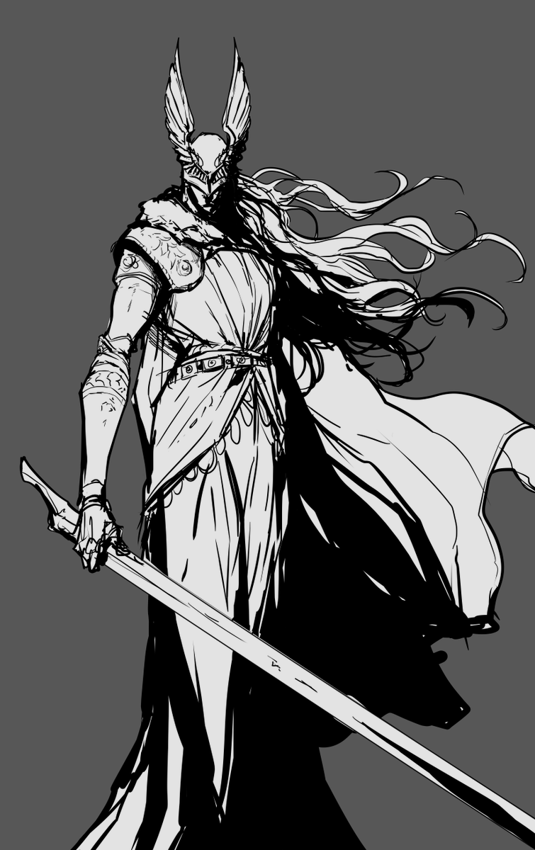 RT @BS_artsss: I had to get it out of my system and draw that badass woman from elden ring. https://t.co/Lw3apMiKH8