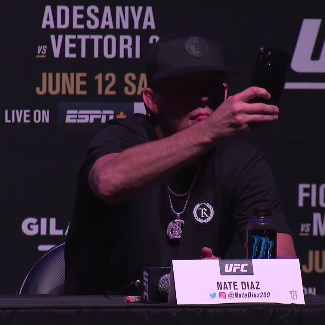 """""""What was the question?"""" 🎙 There's only one @NateDiaz209 😂#UFC263 https://t.co/n6J4ij0LDc"""