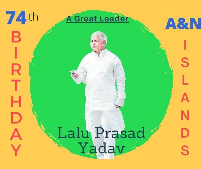 Happy Birthday To Our Hon\ble President Shri.Lalu Prasad Yadav Ji
