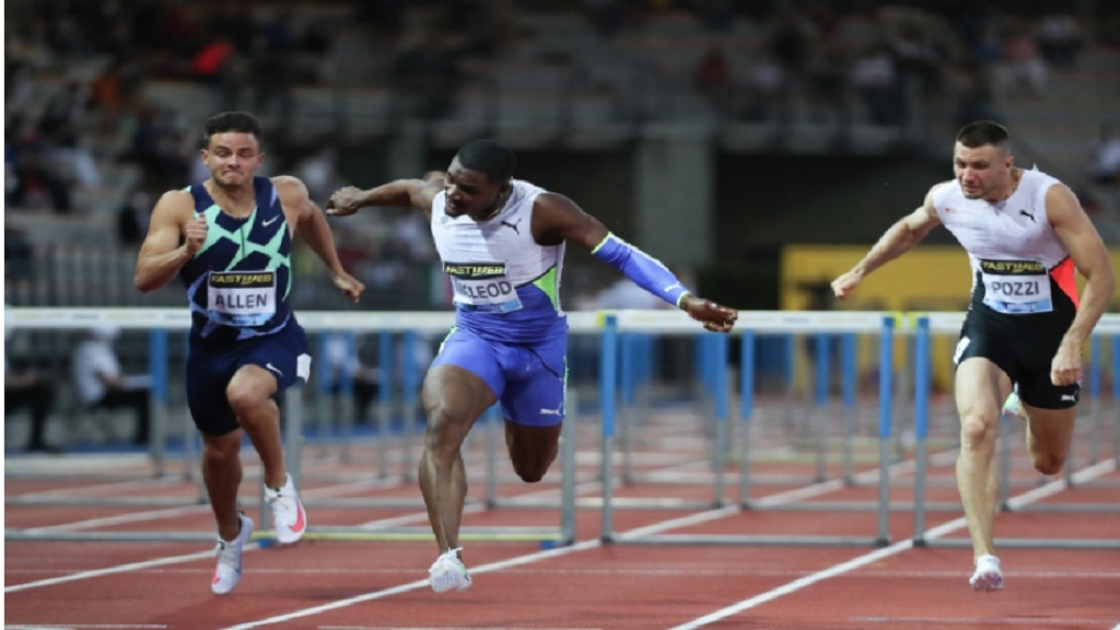 Omar McLeod sets new world lead at Florence Diamond League