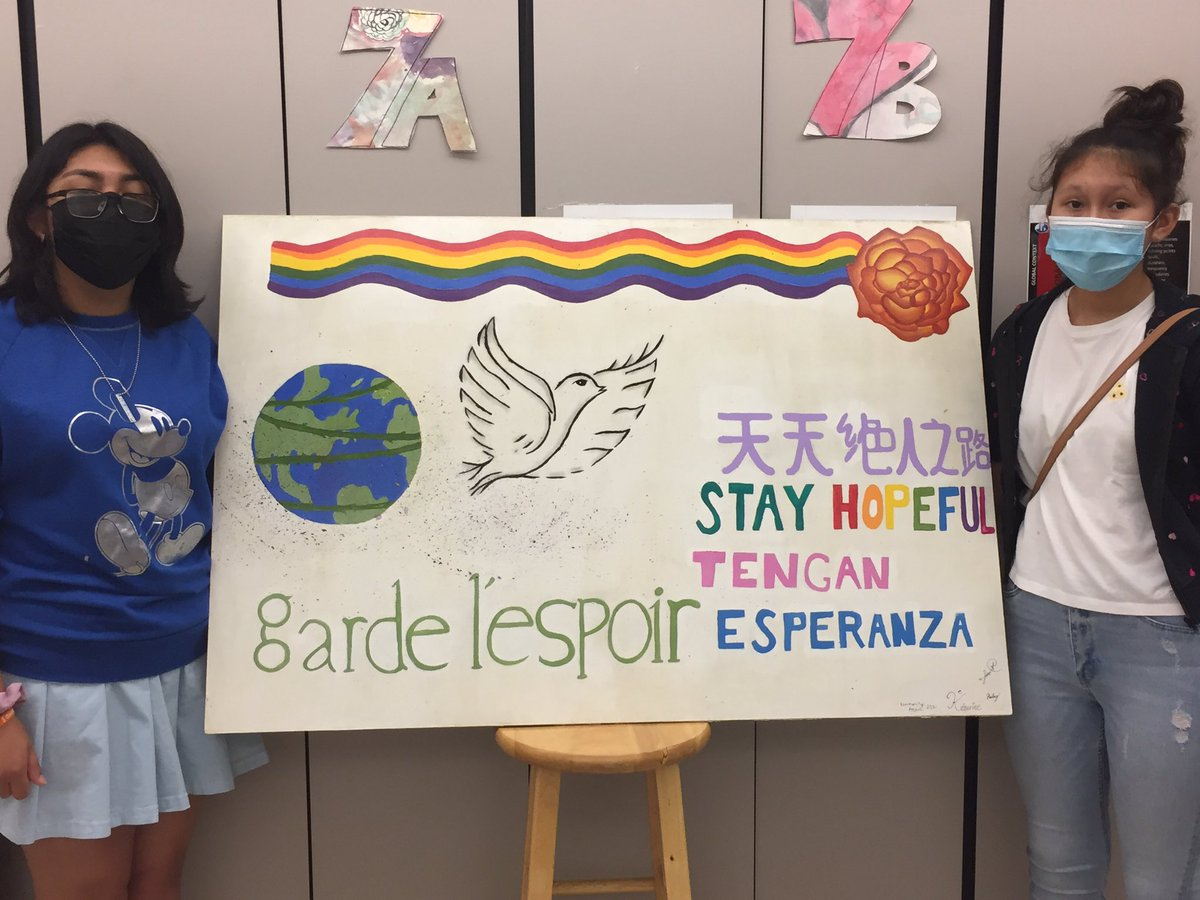 <a target='_blank' href='http://search.twitter.com/search?q=stayhopeful'><a target='_blank' href='https://twitter.com/hashtag/stayhopeful?src=hash'>#stayhopeful</a></a> mural by three fabulous 8th graders for their IB project <a target='_blank' href='http://twitter.com/JeffersonIBMYP'>@JeffersonIBMYP</a> <a target='_blank' href='http://twitter.com/APSArts'>@APSArts</a> <a target='_blank' href='http://twitter.com/APSVirginia'>@APSVirginia</a> <a target='_blank' href='https://t.co/SvnwG6dS6b'>https://t.co/SvnwG6dS6b</a>