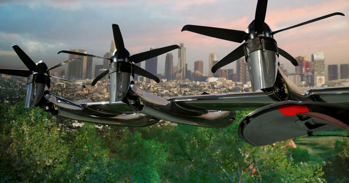Archer's flying taxi makes splashy debut in heated market https://t.co/Wmo67mmO0i https://t.co/sM1ixstco5