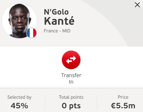 Knowledge is knowing that N'Golo Kante is an elite football player  Wisdom is knowing not to put him in your fantasy team  #EuroFantasy #Euro2020 #France #fpl https://t.co/H3agFlWwMY