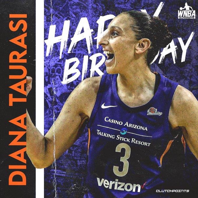 WNBA fans, let us all greet Diana Taurasi a happy 39th birthday!