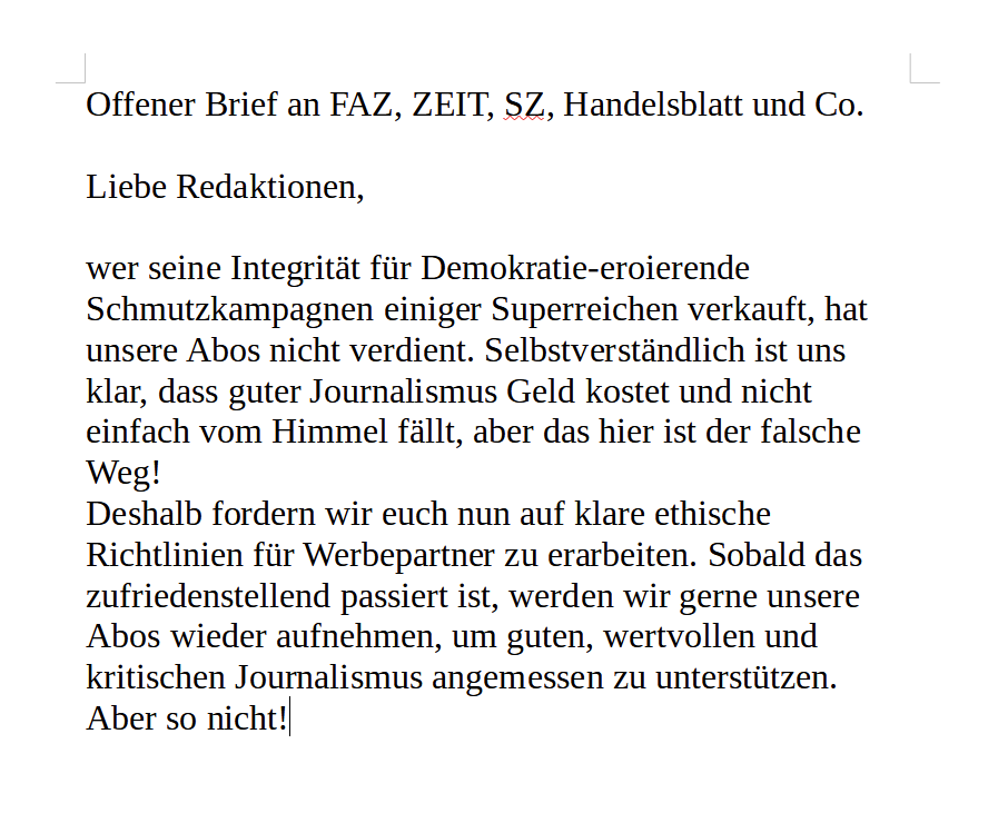 Offener Brief an @faznet, @DIEZEIT, @SZ, @handelsblatt  und weitere.  #insm #Baerbock https://t.co/SWydMF65in