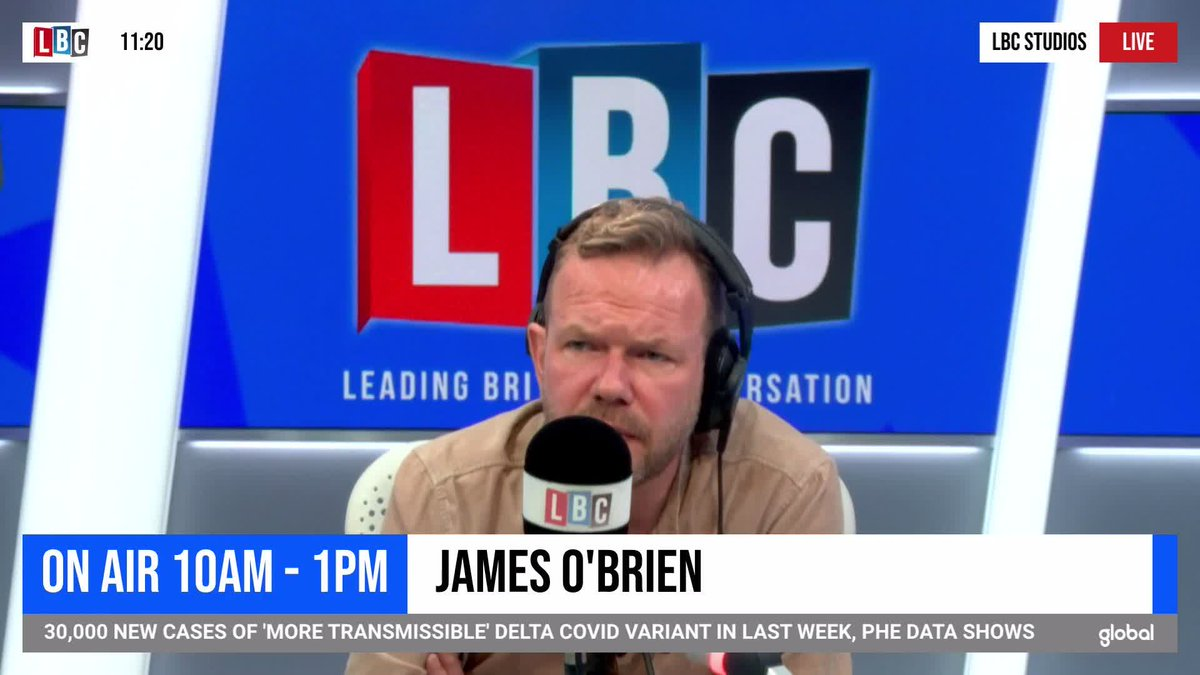 'They signed it, got elected on the back of it and now they're complaining about it. If only somebody warned them.'  James O'Brien reacts to Dominic Raab claiming the EU is taking an 'overly purist' approach to the Northern Ireland Protocol.  @mrjamesob https://t.co/98Xn2LLmTw