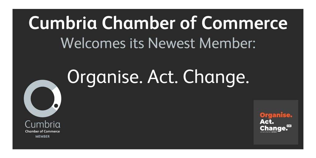 test Twitter Media - Cumbria Chamber of Commerce would like to welcome one of its new members, Organise. Act. Change.  Organise. Act. Change. is a community organisation and empowers community groups, charities, social enterprise's and organisation in the third sector. https://t.co/xiOrP0ahQE
